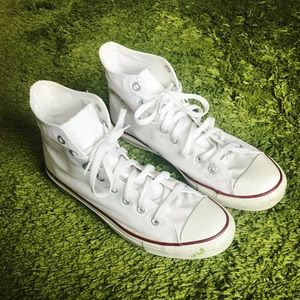 Converse all star high top men white shoes